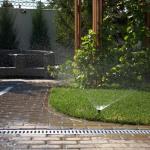 Орошение приусадбной зелени с помощью системы автоматического полива
